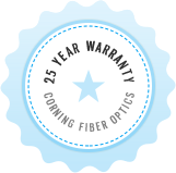 25 Year Warranty on Corning Fiber Optics