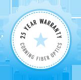 25 Year Warranty on Corning Fiber Optics